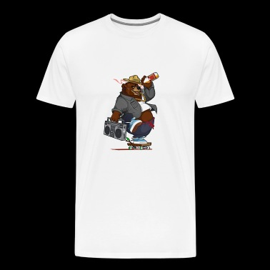 smokey the skateboard bear - Men's Premium T-Shirt