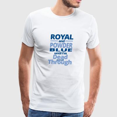 royal and powder blue - Men's Premium T-Shirt