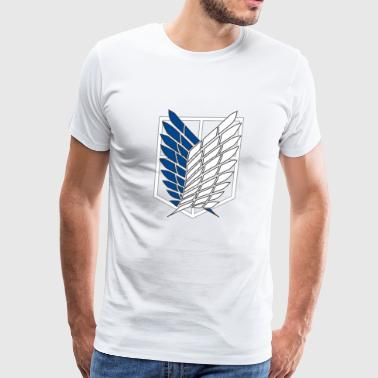 Attack On Titan Logo - Men's Premium T-Shirt