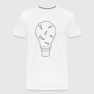 Blank Page Lightbulb - Men's Premium T-Shirt