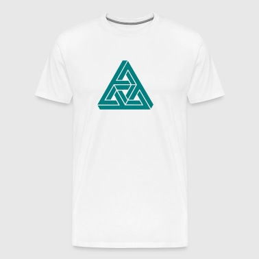Impossible triangle optical illusion, Escher,  - Men's Premium T-Shirt