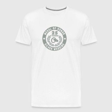 MEDAL OF HONOR 25th SILVER WEDDING - Men's Premium T-Shirt