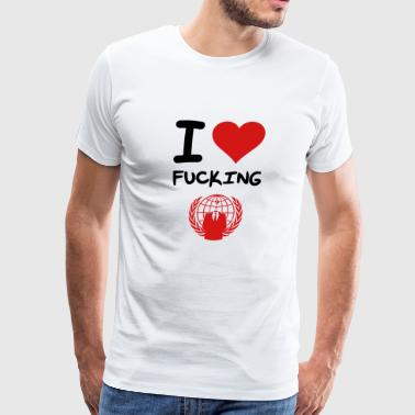 I Love Anonymous - Men's Premium T-Shirt