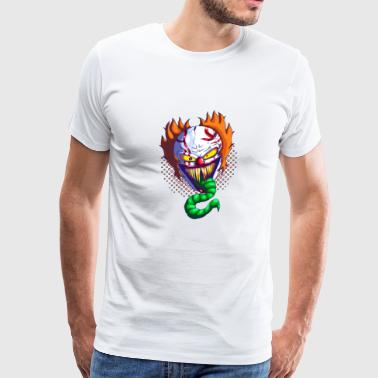 ceramic clown design by lucafear dbtvy2b - Men's Premium T-Shirt