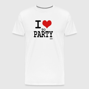 i love to party by wam - Men's Premium T-Shirt