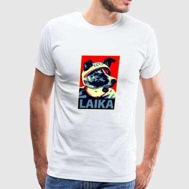 Laika first animal to orbit the Earth - Men's Premium T-Shirt