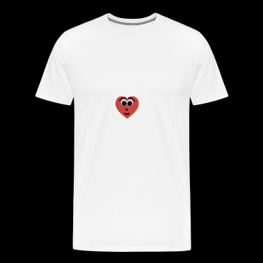 Cartoon Heart Smiley Face - Men's Premium T-Shirt