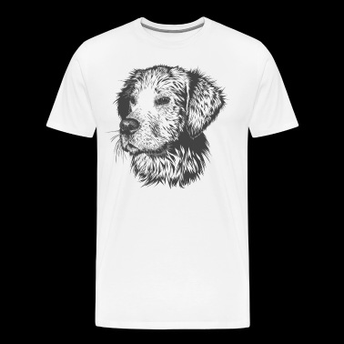 Dog Drawing Silhouettes - Men's Premium T-Shirt