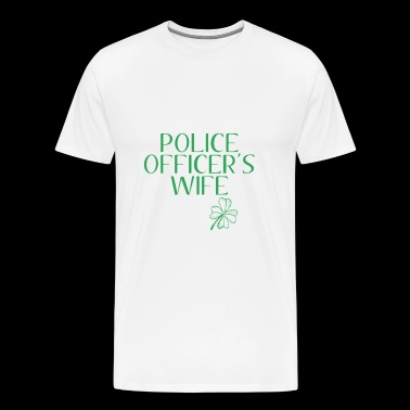 LUCKIEST POLICE OFFICERS WIFE - Men's Premium T-Shirt