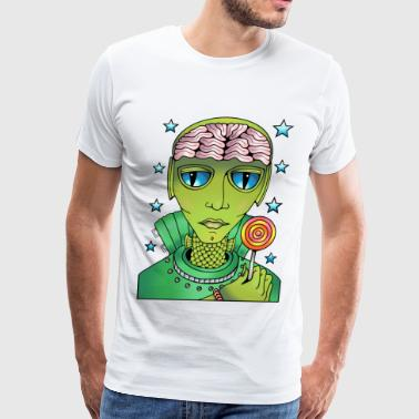 Alien Lollipop - Men's Premium T-Shirt