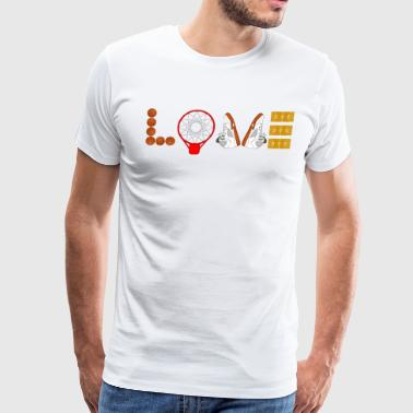 I LOVE Basketball Sport Slam-dunks Basketballer 6 - Men's Premium T-Shirt