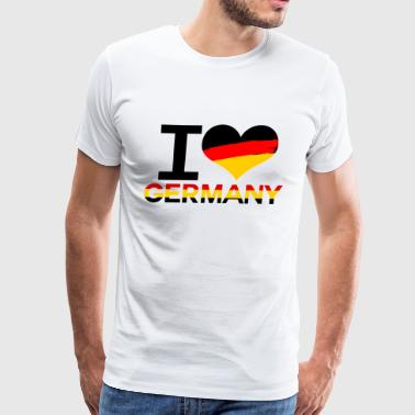I love Germany heart flag - Men's Premium T-Shirt