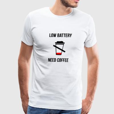 Low Battery Need Coffee - Men's Premium T-Shirt