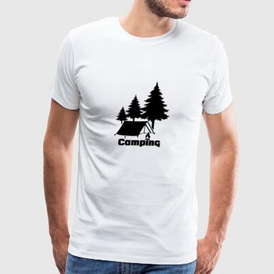 Camping Tent With Tree funny tshirt - Men's Premium T-Shirt