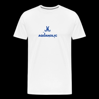 Aquaholic Swimming funny tshirt - Men's Premium T-Shirt