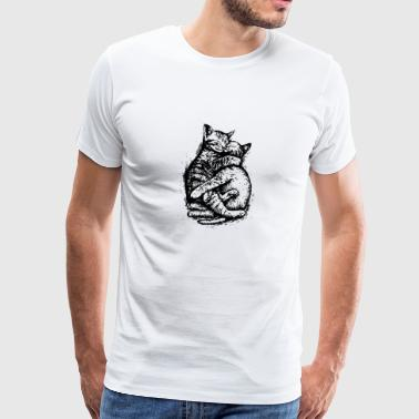 Cuddly Cat - Men's Premium T-Shirt