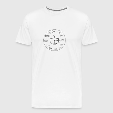 COFFEE WHAT TIME IS IT - Men's Premium T-Shirt