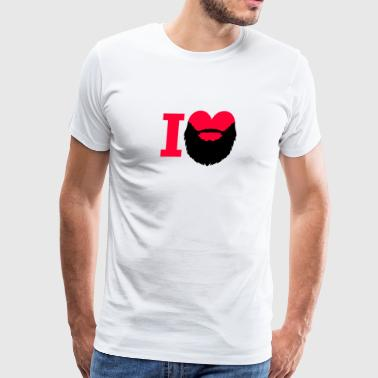 I Heart Beard - Men's Premium T-Shirt