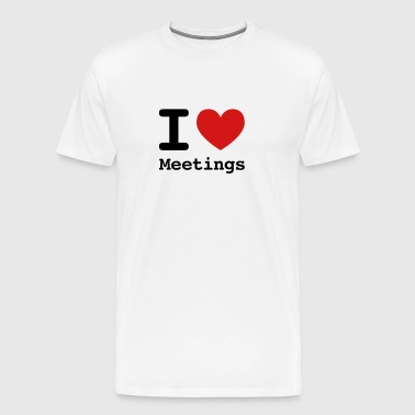 I love meetings - Men's Premium T-Shirt