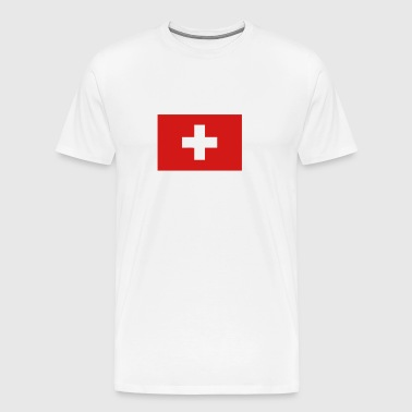 swiss flag switzerland - Men's Premium T-Shirt