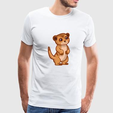 Meercat Suricate Cat Animal Africa Zoo Cute - Men's Premium T-Shirt