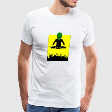 alien dj - Men's Premium T-Shirt