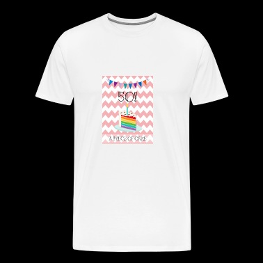 a piece of cake for 50th Birthday - Men's Premium T-Shirt