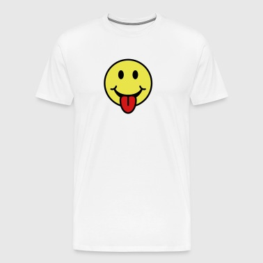 Smiley - Tongue Sticking Out - Men's Premium T-Shirt