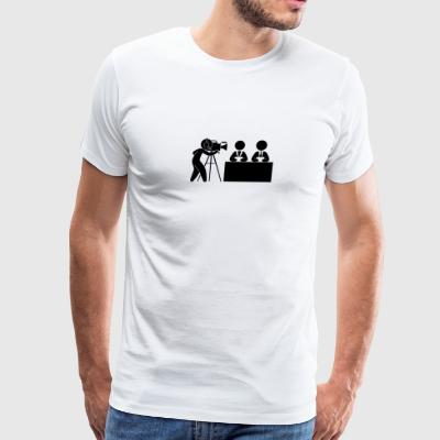 News Cameraman Studio - Men's Premium T-Shirt