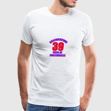 39th birthday design - Men's Premium T-Shirt