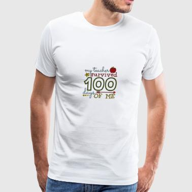 Teacher Survived 100 Days - Men's Premium T-Shirt