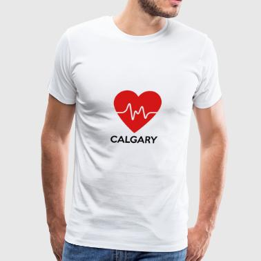 Heart Calgary - Men's Premium T-Shirt