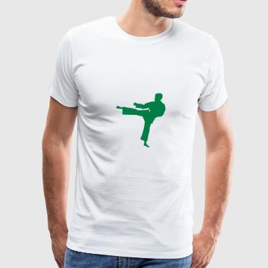 Karate fighter silhouette 7 - Men's Premium T-Shirt