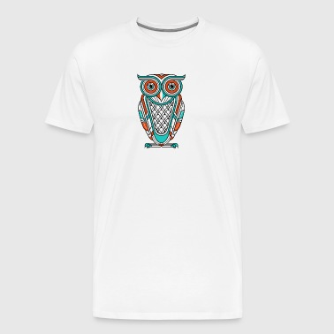 Art Deco Owl Diurnal - Men's Premium T-Shirt