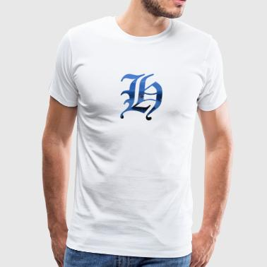 Old English Letter H - Men's Premium T-Shirt
