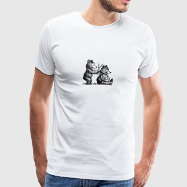 The Barber Bear - Men's Premium T-Shirt