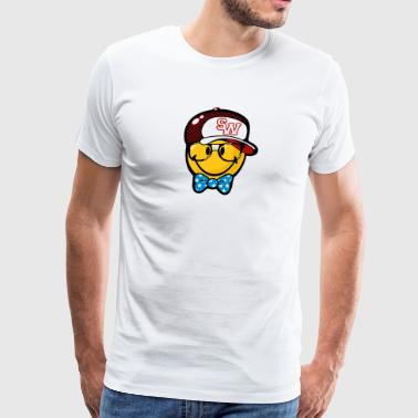 SmileyWorld Preppy Boy with Cap - Men's Premium T-Shirt