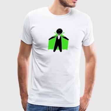 Count Dracula Is A Vampire With A Cape - Men's Premium T-Shirt