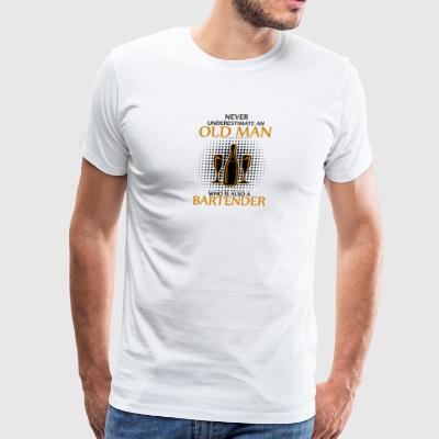 An Old Man Who Is Also A Bartender T Shirt - Men's Premium T-Shirt