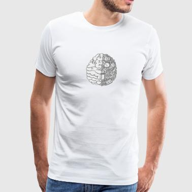 mechanical brain - Men's Premium T-Shirt