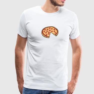 Funny Cute Pizza Slice Matching Shirt Couple Love - Men's Premium T-Shirt