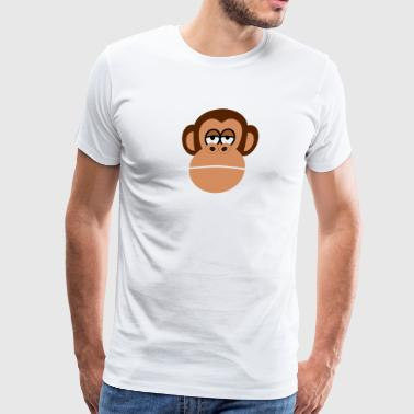 affe monkey gorilla chimp orangutan60 - Men's Premium T-Shirt
