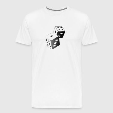 Two Dice At The Casino - Men's Premium T-Shirt