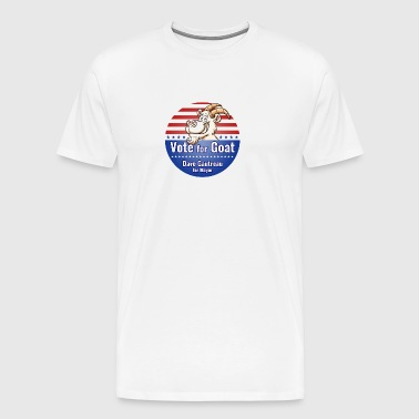 Vote for Goat Button Design - Men's Premium T-Shirt
