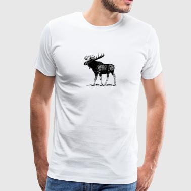 Animals Moose - Men's Premium T-Shirt
