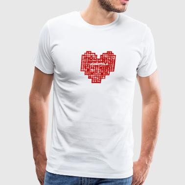 Undertale Heart Character - Men's Premium T-Shirt