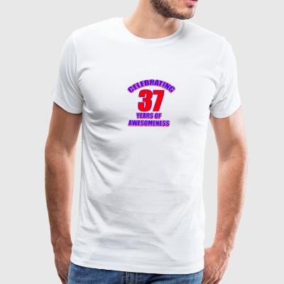 37th birthday design - Men's Premium T-Shirt
