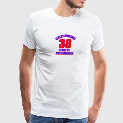 38th birthday design - Men's Premium T-Shirt