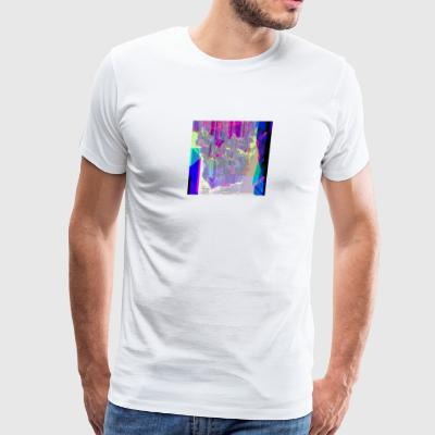 Cool-Colored Glitch Art - Men's Premium T-Shirt