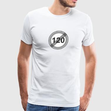 Road_Sign_120_restriction - Men's Premium T-Shirt